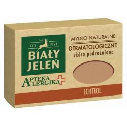 Biały Jeleń mydło dermatologiczne z ichtiolem Apteka Alergika 125 g