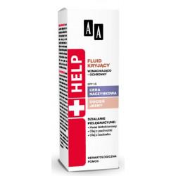 AA Help Fluid kryjący wzmacniająco-ochronny SPF15, odcień jasny 30 ml