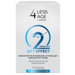 Less4Age Koncentrat błyskawicznie liftingujący x 5 ampułek peptydowych