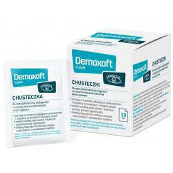Demoxoft Clean Chusteczki do specjalistycznej pielęgnacji i oczyszczania podrażnionej skóry powiek x 20 szt.