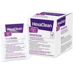 HexaClean Chusteczki 20 sztuk, Data ważności: 30.11.2021 r.