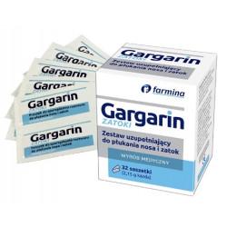 Gargarin ZATOKI Zestaw uzupełniający do płukania nosa i zatok 32 saszetki