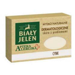 Biały Jeleń Apteka Alergika Dermatologiczne mydło naturalne Cynk 125g