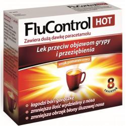 FluControl Hot Proszek do sporządzania roztworu doustnego. 8 saszetek - po 5,5 g
