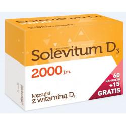 Solevitum D3 2000 j.m. Witamina D3  75 kapsułek