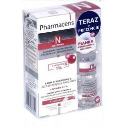 Pharmaceris N Zestaw Krem z witaminą K 1%, 30 ml + Pianka delikatna 50 ml