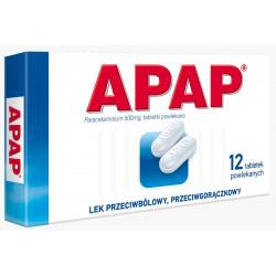 APAP 500 mg x 12 tabletek