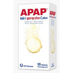 Apap Ból i gorączka C plus (500mg+300mg), 10 tabletek musujących