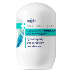 Anida Medisoft Dezodorant mineralny roll-on skóra wrażliwa, 50 ml