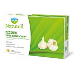 NATURELL Czosnek forte bezapachowy 2 mg + wit. D  x 90 kaps.
