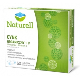 NATURELL Cynk + Witamina C 60 tabletek do ssania
