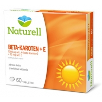 Naturell Beta-karoten 1000 µg + wit. E 10 mg 60 tabletek