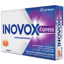 Inovox Express smak pomarańczowy x 12 pastyl. tward.