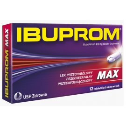 Ibuprom MAX 400 mg x 12 tabletek