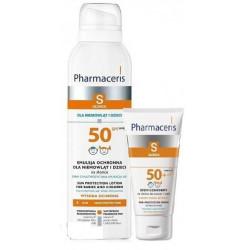 Pharmaceris S Zestaw Emulsja ochronna dla dzieci SPF 50, 150 ml + Bezpieczny Krem Ochronny dla dzieci SPF 50+, 20 ml