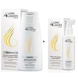 Long 4 Lashes zestaw Serum intensywnie stymulujące wzrost włosów 150 ml + Szampon wzmacniający przeciw wypadaniu włosów 200 ml.