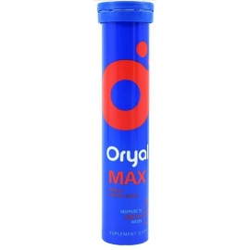 Oryal Max elektrolity smak malinowy 15 tabletek musujących