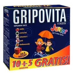 Gripovita Junior herbatka, 10 saszetek + 5 gratis