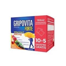 Gripovita Forte herbatka 10 saszetek + 5  saszetek gratis