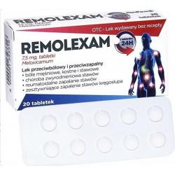 Remolexam 7,5 mg Meloxicamum, 20 tabletek