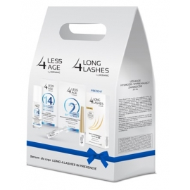 Long 4 age koncentrat liftingujący + hydrożel + serum do rzęs - zestaw