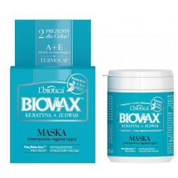 Biovax maseczka intesywnie regenerująca keartyna+jedwab, 250 ml