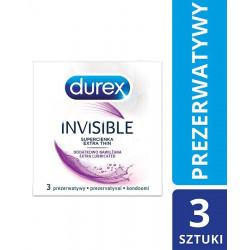 Durex Invisible prezerwatywy dodatkowo nawilżane x 3 szt.