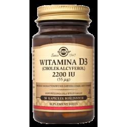 SOLGAR Witamina D3 2200 IU (55ug)