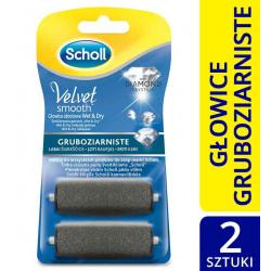 Scholl Velvet Smooth, głowice wymienne obrotowe z kryształkami diamentu, 2 szt