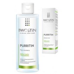 IWOSTIN PURRITIN Zestaw Aktywny Krem 40 ml + płyn micelarny 215ml
