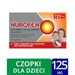 Nurofen dla dzieci 125 mg x 10 czopków, Data ważności: 31.05.2021
