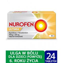 Nurofen Ultima (Ibuprofen 200 mg + paracetamol 500 mg) x 24 tabletki powlekane