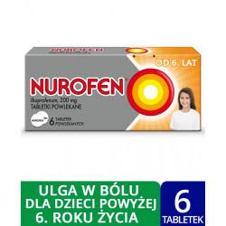 Nurofen dla dzieci 200 mg x 6 tabletek