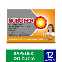 Nurofen dla dzieci Junior 100 mg x 12 kapsułek do żucia