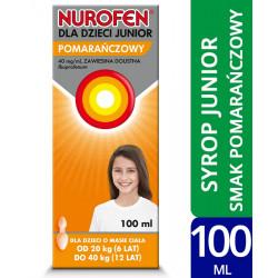 Nurofen dla dzieci Junior o smaku pomarańczowym 40mg/ml zawiesina 100 ml