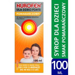 Nurofen dla dzieci Forte 40 mg/ml, zawiesina doustna o smaku pomarańczowym, 100 ml
