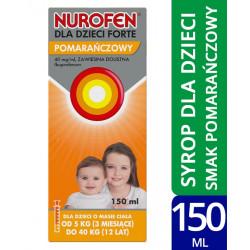 Nurofen dla dzieci Forte zawiesina 200 mg/5ml o smaku pomarańczowym 150ml