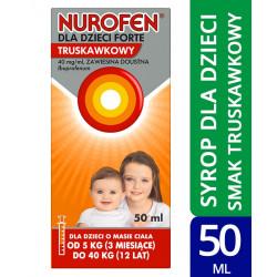 Nurofen dla dzieci Forte syrop truskawkowy 50ml