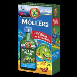 MOLLERS Tran norweski o aromacie owocowym - 250 ml + PIÓRNIK