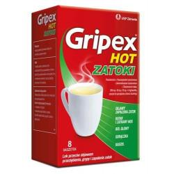 Gripex Hot zatoki 8 saszetek
