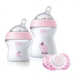 Chicco Zestaw butelek do karmienia dla niemowląt 0m+ różowy