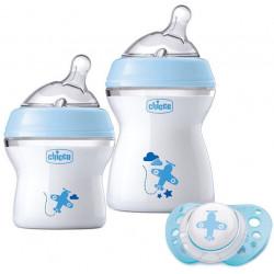 Chicco Zestaw butelek do karmienia dla niemowląt 0m+ niebieski