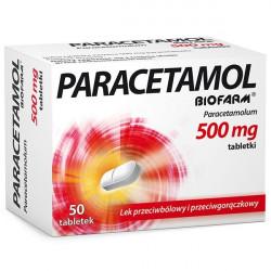 Paracetamol Biofarm 500 mg 50 tabletek