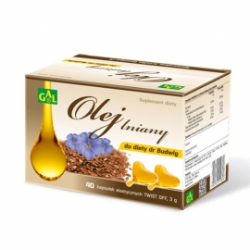 GAL olej lniany do diety Dr Budwig 40 kapsułek,