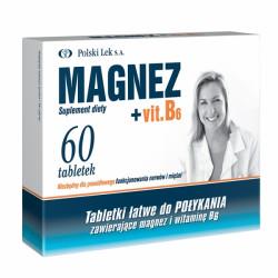 Magnez +Vit.B6 60 tabl. Polski lek