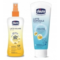 Chicco Zestaw do opalania Spray 150 ml + Mleczko 150 ml