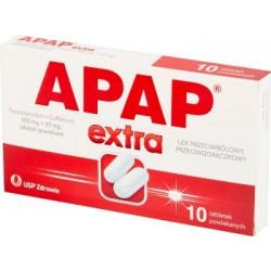 Apap Extra, tabletki powlekane, (500 mg + 65 mg), 10 szt