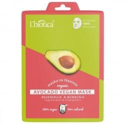 L'Biotica Avocado Vegan Mask Maska na tkaninie 23ml