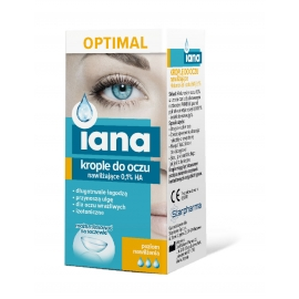 IANA Optimal Krople do oczu nawilżające 0,1% HA 10ml
