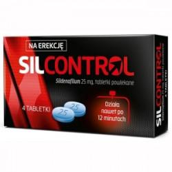 Silcontrol 25mg 4 tabletki